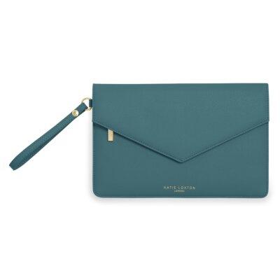 Esme Envelope Clutch Bag Time To Shine Forest Green