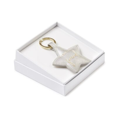 Beautifully Boxed Sentiment Keyring Fabulous Friend In Silver