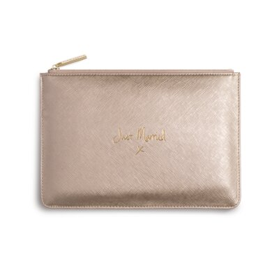 Perfect Pouch Just Married In Metallic Gold