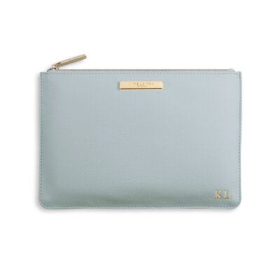Soft Pebble Perfect Pouch Pale In Blue