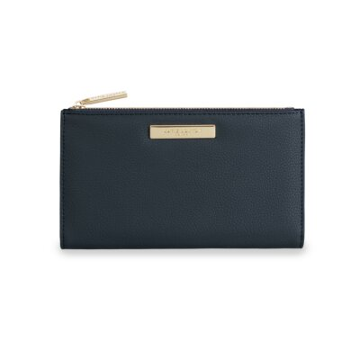 Alise Soft Pebble Fold-Out Purse In Navy