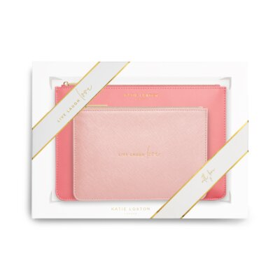 Perfect Pouch Gift Set Live Laugh Love In Oyster Pink