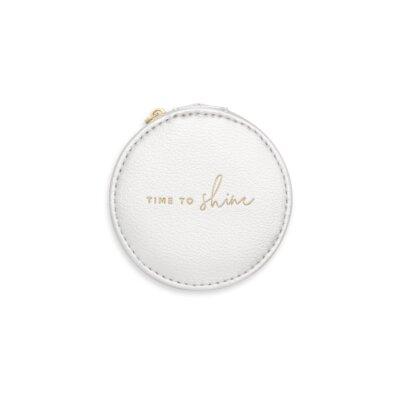 Small Circle Jewelry Box Time To Shine In Metallic Silver