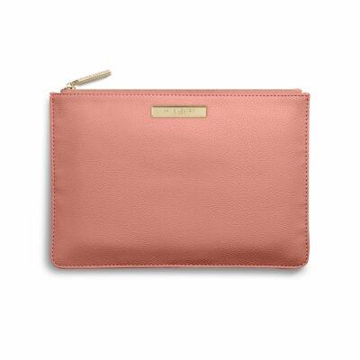 Soft Pebble Pouch | Salmon Pink