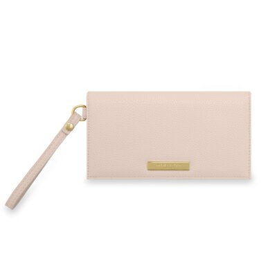 Cleo Wristlet In Nude Pink