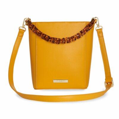 Ayla Tortoiseshell Bag In Ochre