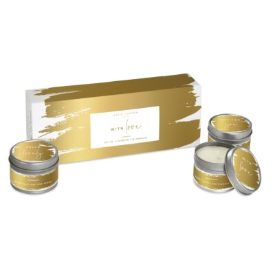 Trio Candle Box With Love Candle Gift Box