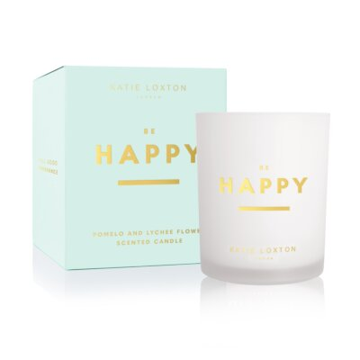 Sentiment Candle Be Happy Pomelo And Lychee Flower