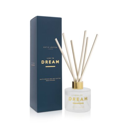 Sentiment Reed Diffuser Live To Dream White Orchid And Soft Cotton
