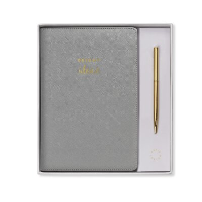 A5 Notebook And Pen Set Bright Ideas