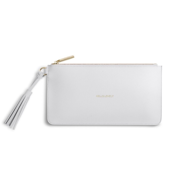 Florrie Tassel Pouch | Hello Lovely | Pale Gray