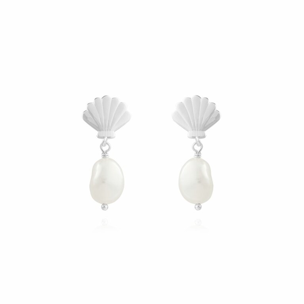 Serena | Shell Pearl Earrings