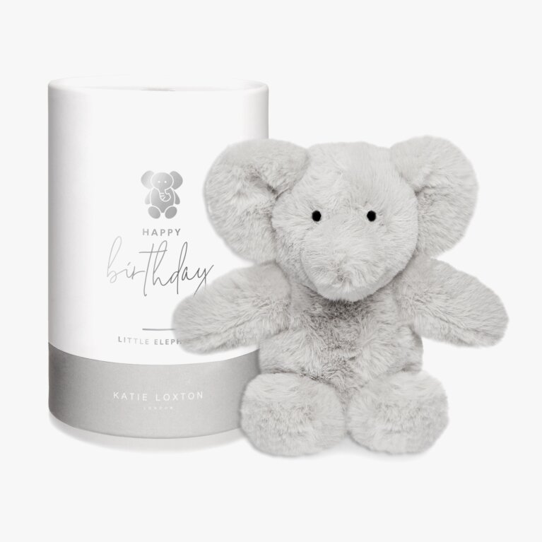 Elephant Baby Toy | Happy Birthday | Grey