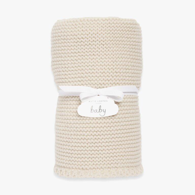 Knitted Baby Blanket | Cream