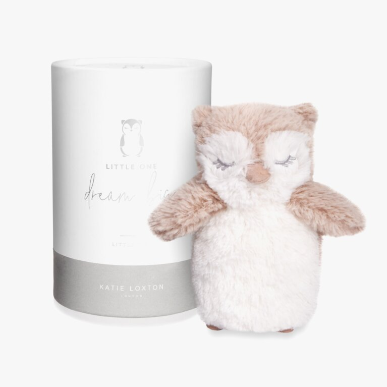 Owl Baby Toy | Dream Big Little One | White and Oatmeal