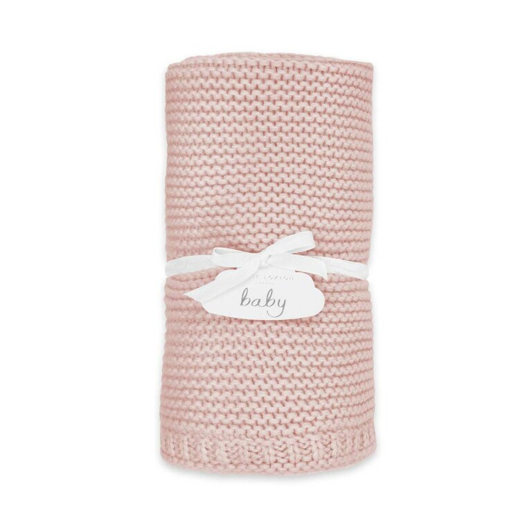 Cotton Knitted Baby Blanket | Pink