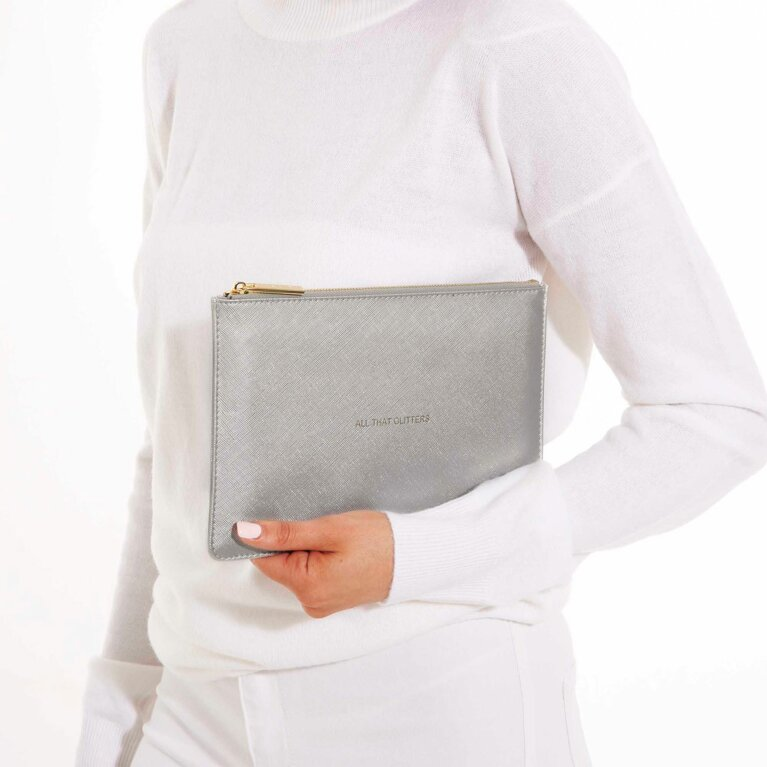 Perfect Pouch | All That Glitters | Metallic Silver