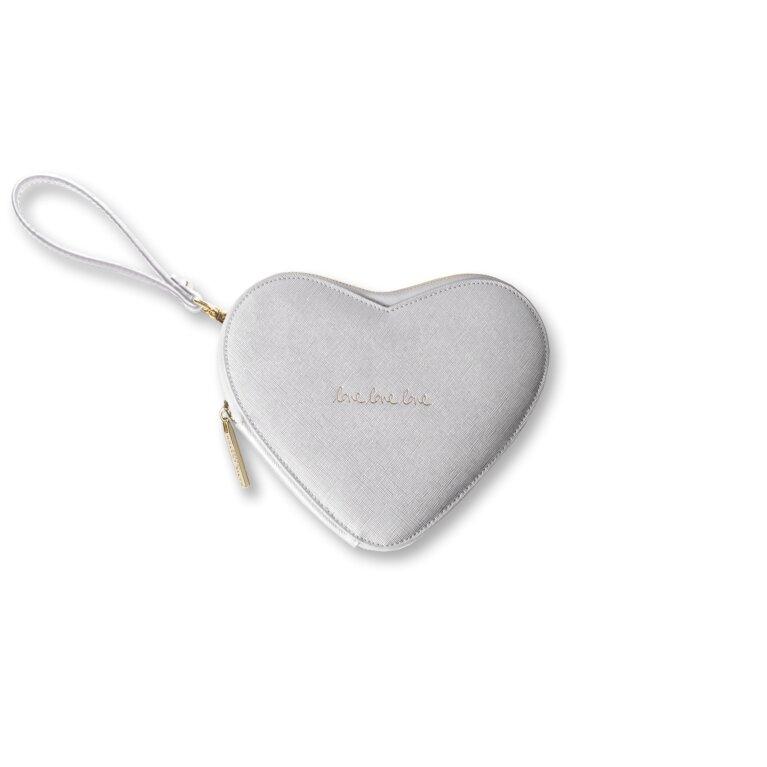 Heart Clutch | Love Love Love | Silver