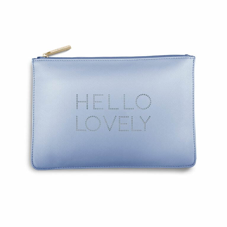 Polka Dot Perfect Pouch | Hello Lovely | Pale Blue