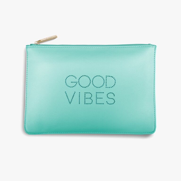 Polka Dot Perfect Pouch | Good Vibes | Mint Green