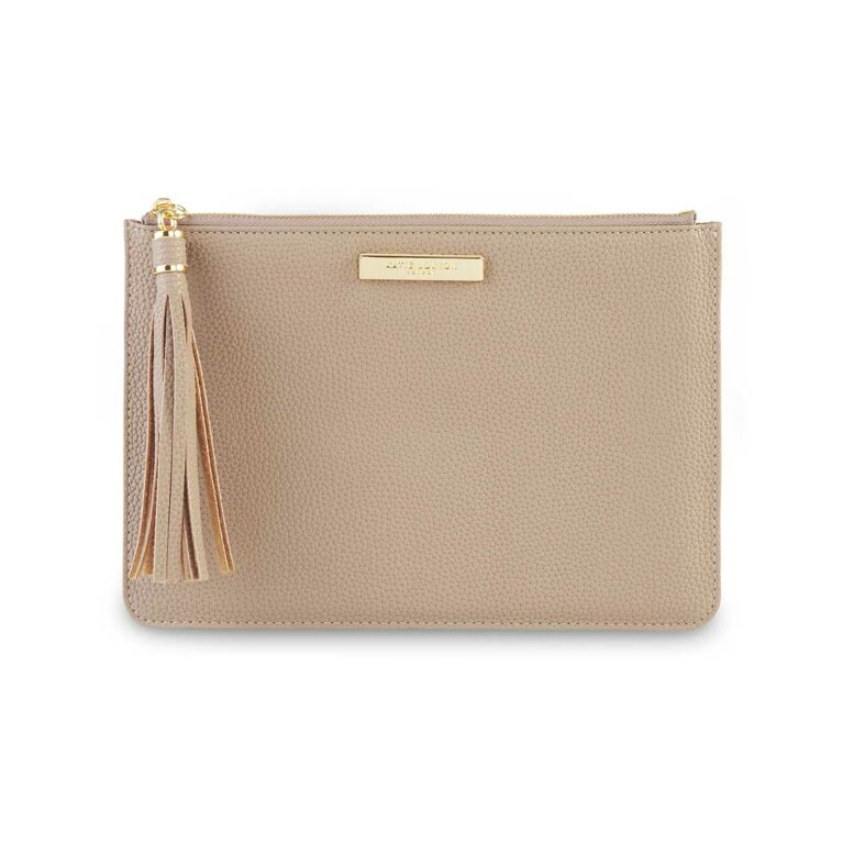 Sophia Tassel Pouch | Taupe