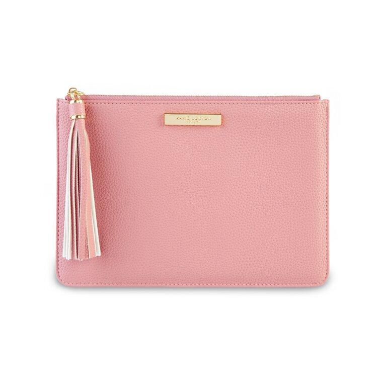 Sophia Tassel Pouch In Pink