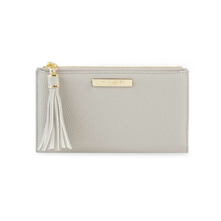 Tassel Fold Out Purse | Stone
