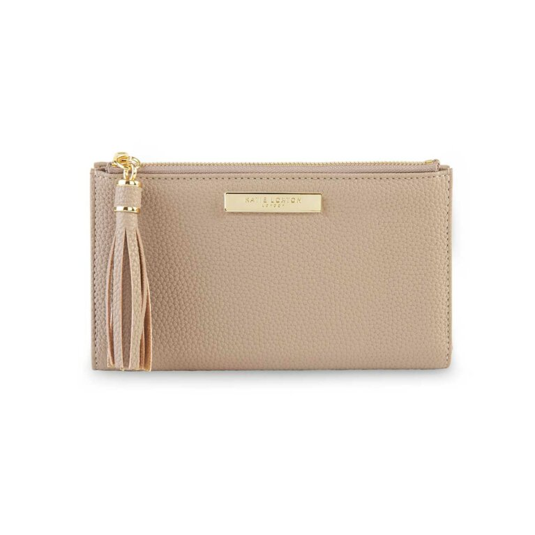 Tassel Fold Out Purse | Taupe