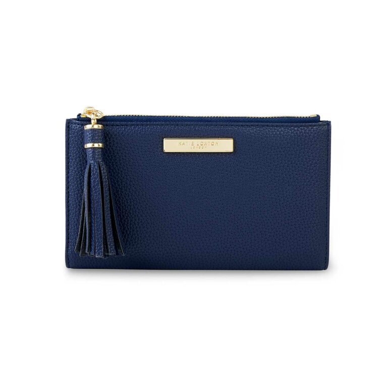 Tassel Fold Out Purse | Navy