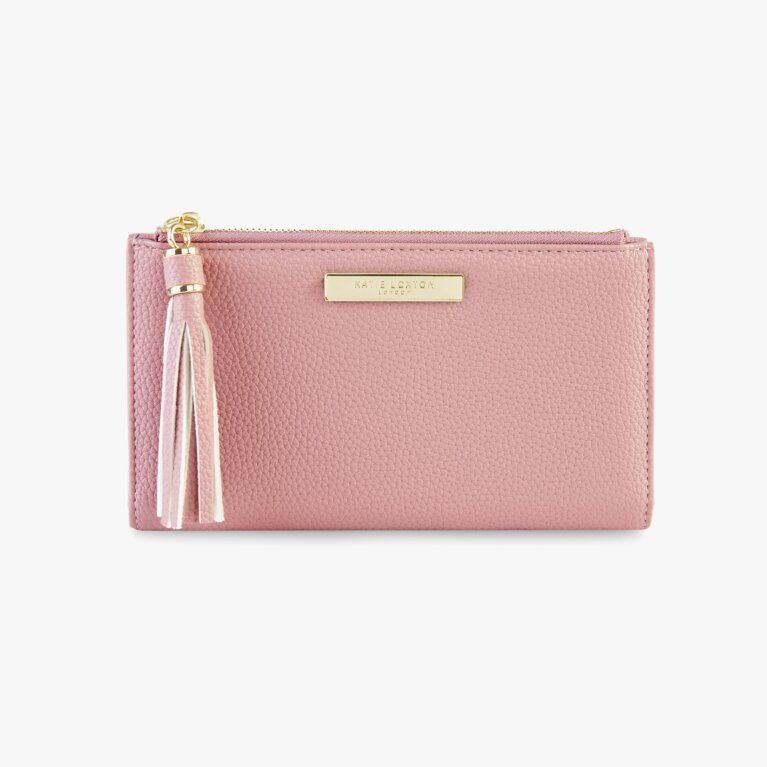 Tassel Fold Out Purse In Pink