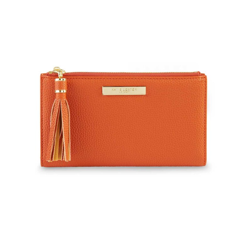 Tassel Fold Out Purse | Burnt Orange