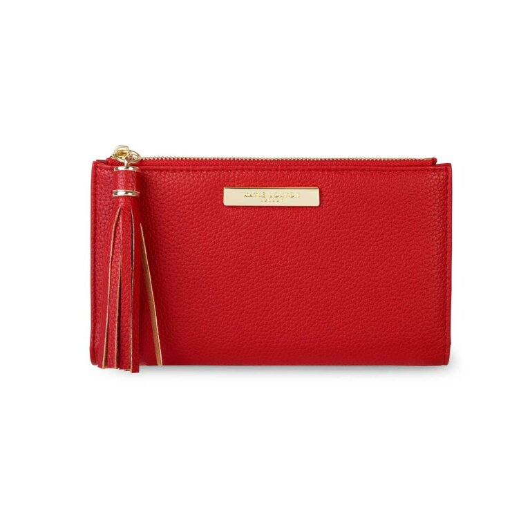 Tassel Fold Out Purse | Red