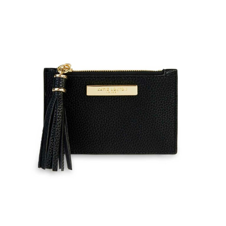 Sophia Tassel Card Holder | Black