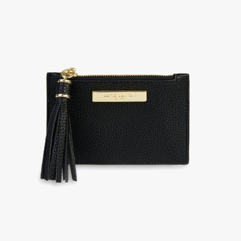 Sophia Tassel Card Holder In Black