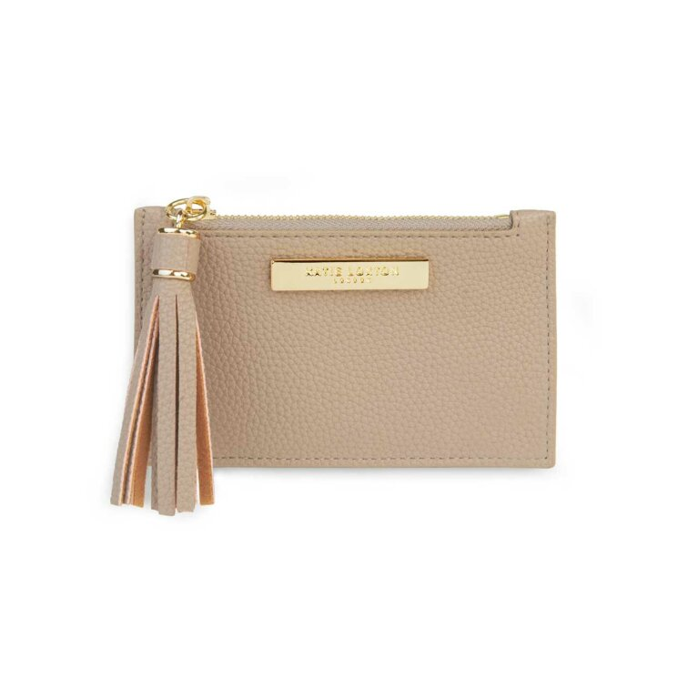 Sophia Tassel Card Holder | Taupe