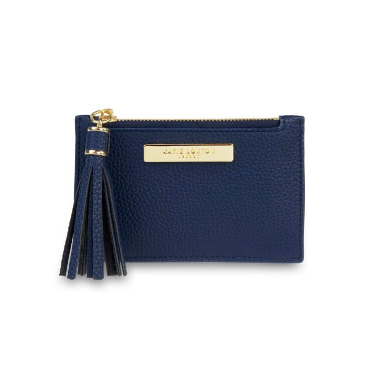 Tassel Card Holder | Navy