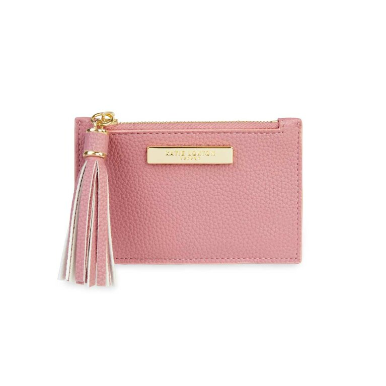Sophia Tassel Card Holder | Pink