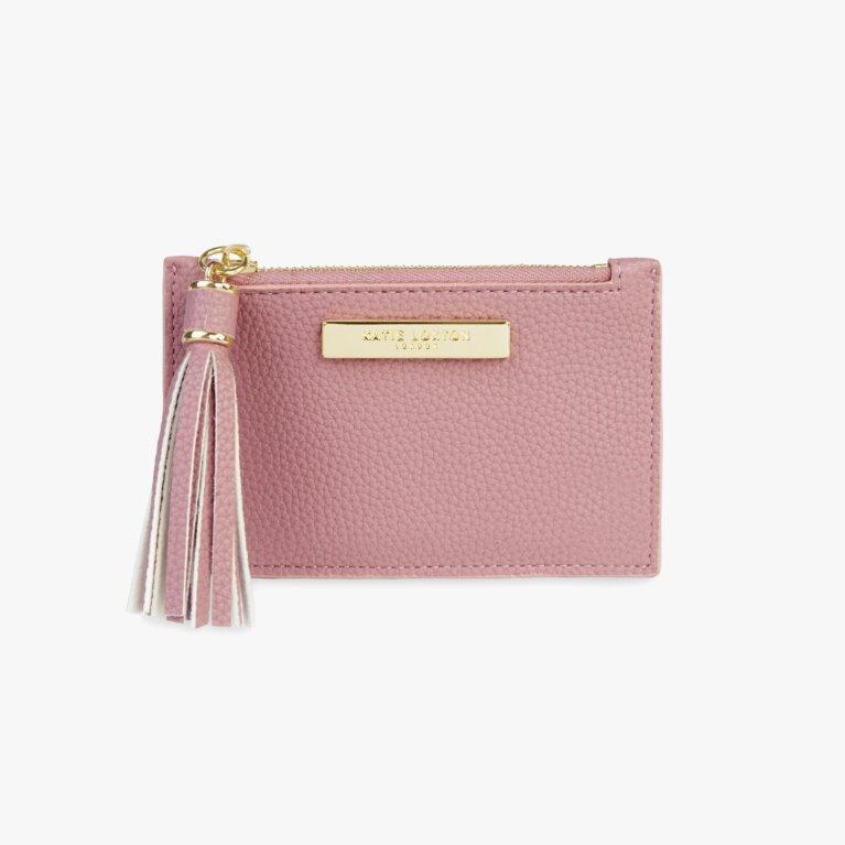 Sophia Tassel Card Holder In Pink