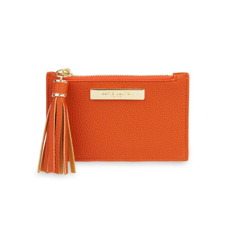 Sophia Tassel Card Holder | Burnt Orange