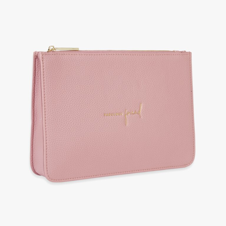 Stylish Structured Pouch Fabulous Friend In Pink