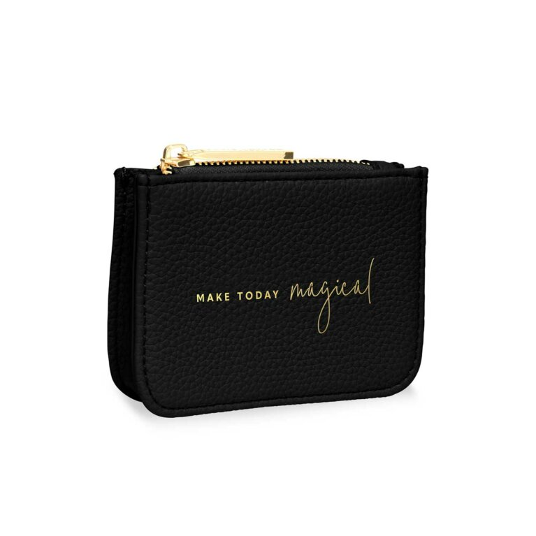 Stylish Structured Coin Wallet | Make Today Magical | Black