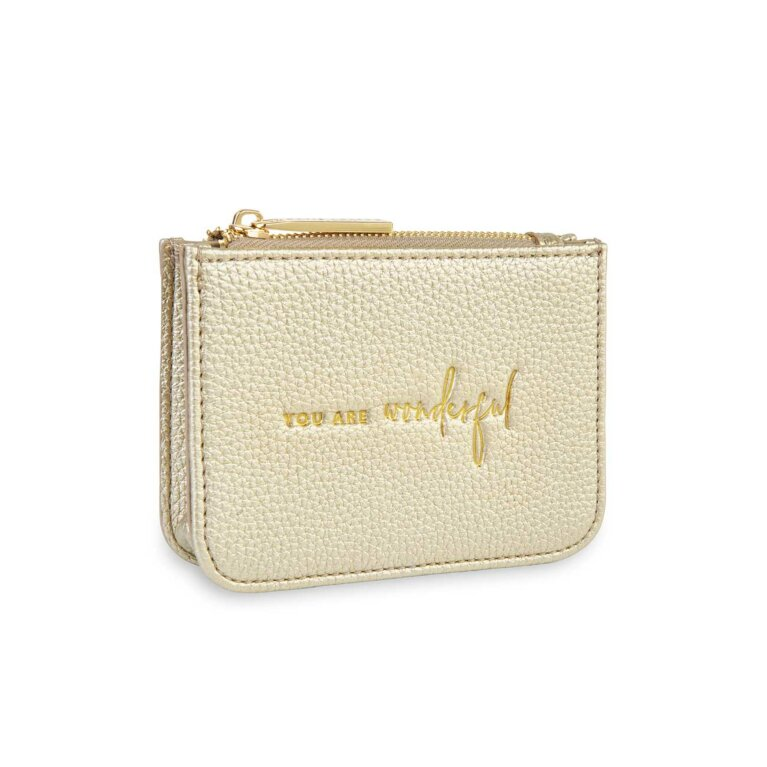 Stylish Structured Coin Wallet | You Are Wonderful | Gold