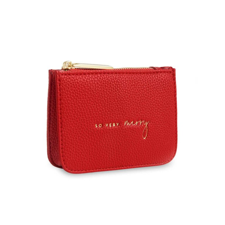 Stylish Structured Coin Wallet | So Very Merry | Red