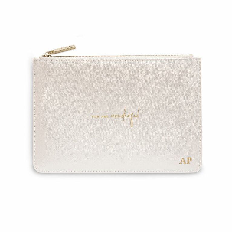 Perfect Pouch | You Are Wondeful | Metallic White