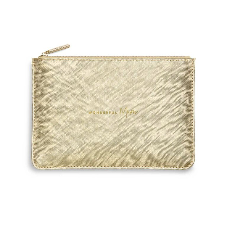 Perfect Pouch | Wonderful Mum | Metallic Gold