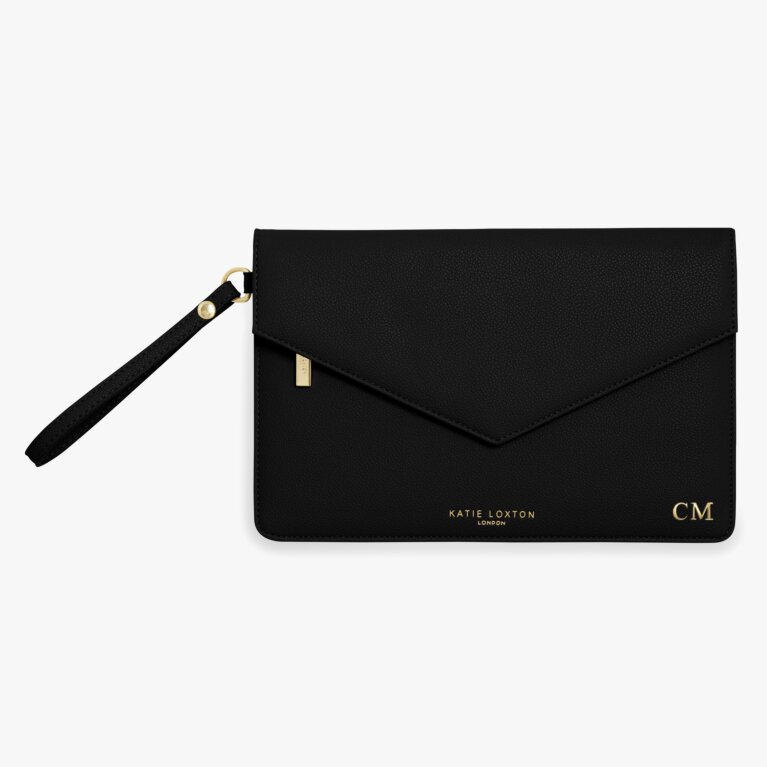 Esme Envelope Clutch Bag | Live To Dream | Black