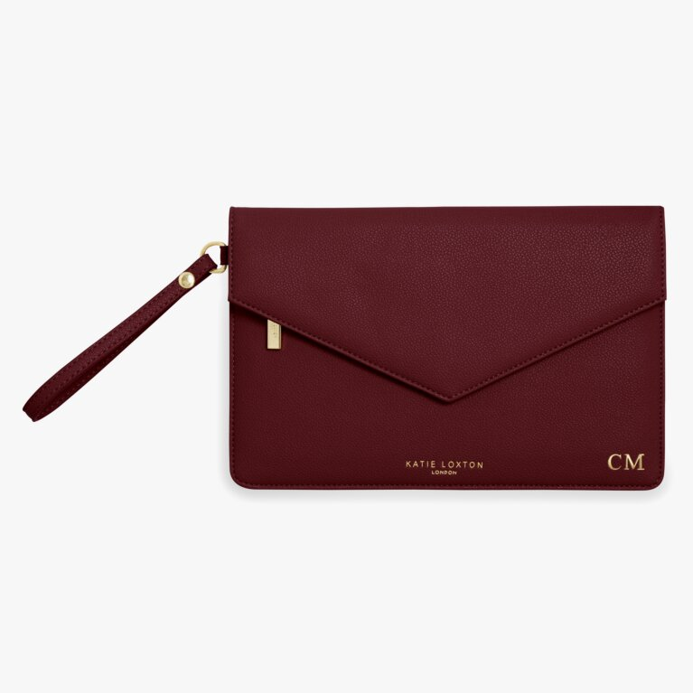 Esme Envelope Clutch Bag | Follow Your Heart | Black