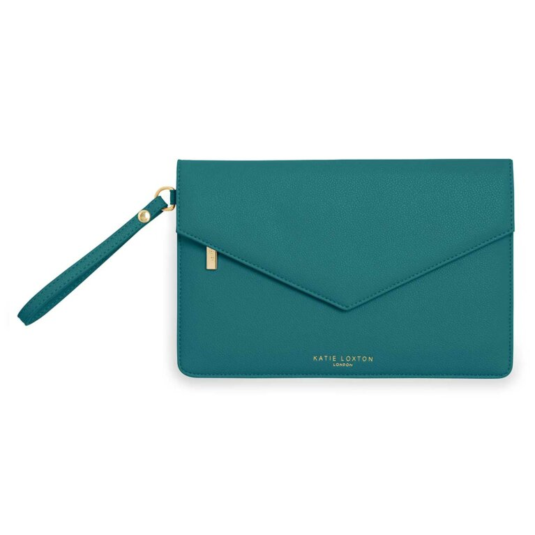 Esme Envelope Clutch Bag | Time To Shine | Forest Green