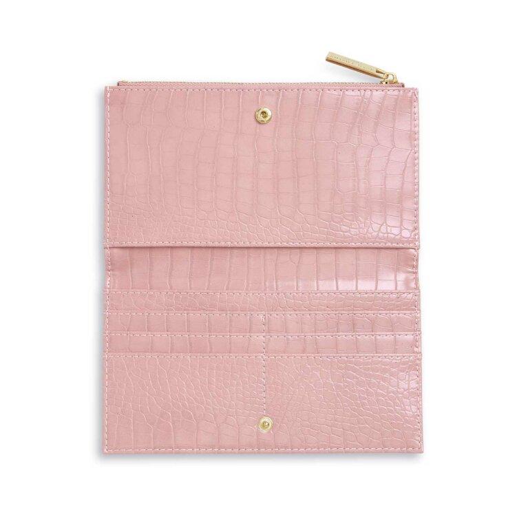 Celine Faux Croc Fold Out wallet | Pink