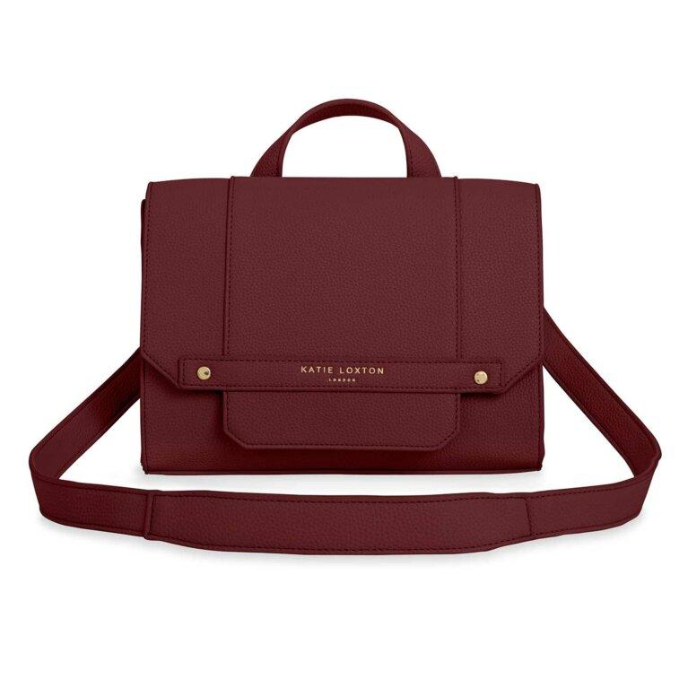 Mila Multi Way Backpack Crossbody Bag | Burgundy
